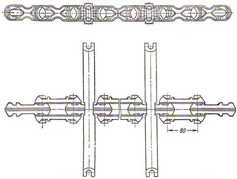 Звено цепи скребкового конвейера соя элеватор