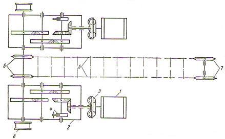 схема привода к скребковому конвейеру