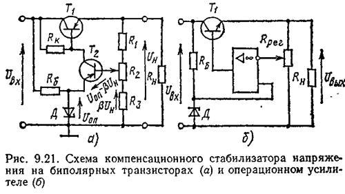 Компенсационный стабилизатор напряжения расчет дизельный генератор бензиновая электростанция