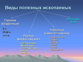 Виды полезных ископаемых