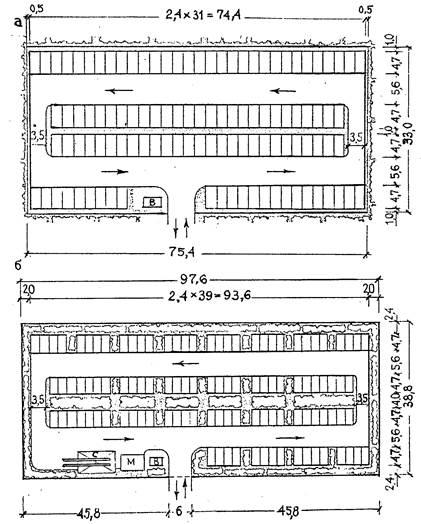 Схемы расположения парковочных мест