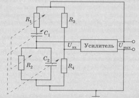 Схема RC генератора