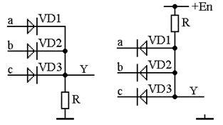 Схема элемента and на диодах