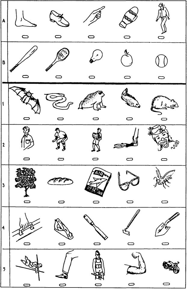 Бланк методика классификация предметов