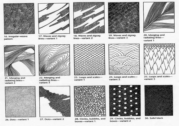знакомство со штриховкой и разными ее видами